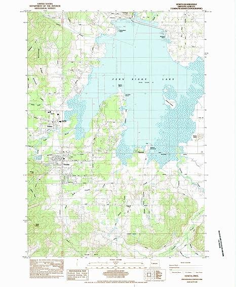 Veneta Oregon Map Amazon.: YellowMaps Veneta OR topo map, 1:24000 Scale, 7.5 X