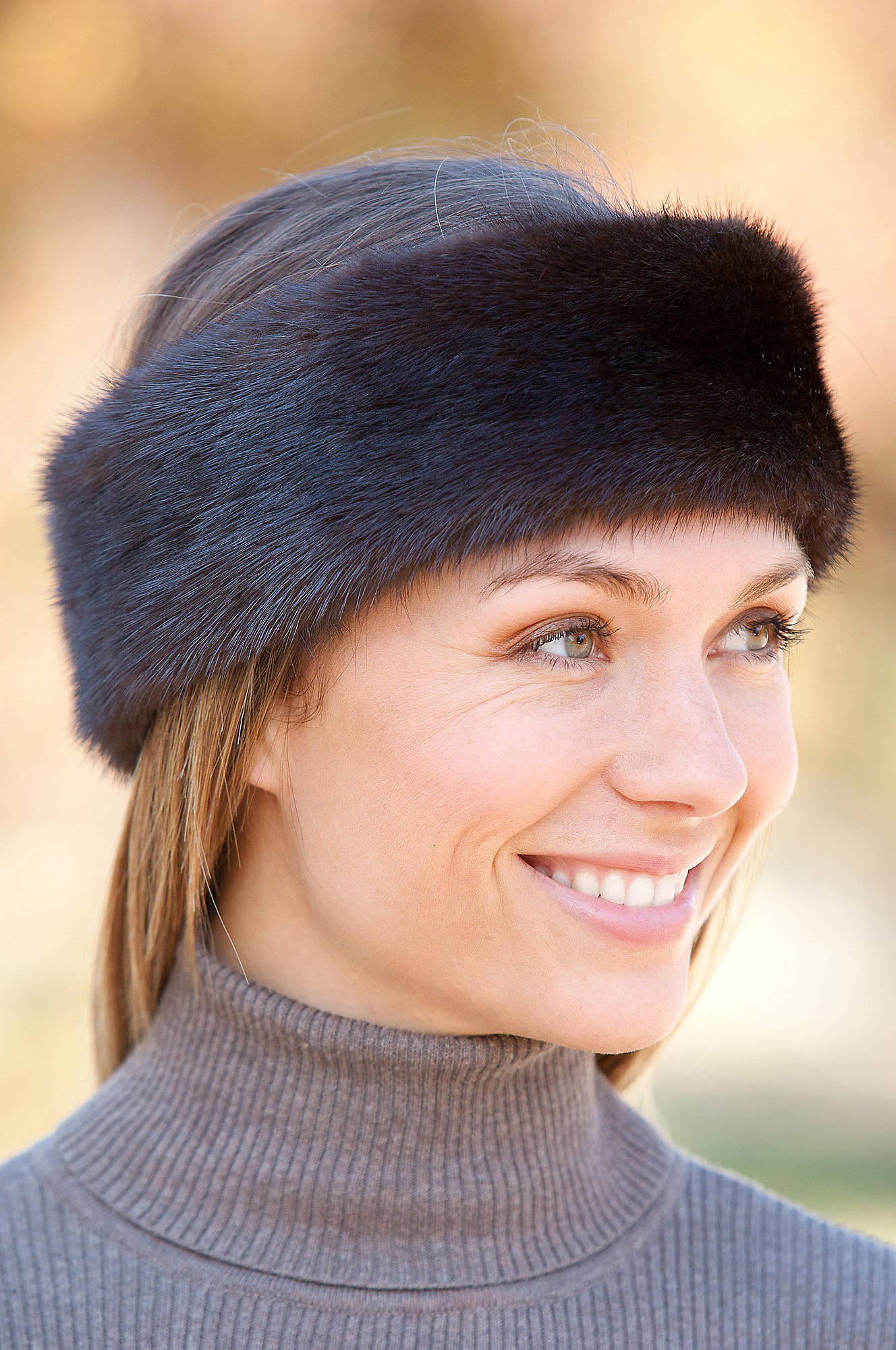 Mink Fur Headband, MAHOGANY, Size 1 Size by Overland Sheepskin Co (Image #3)