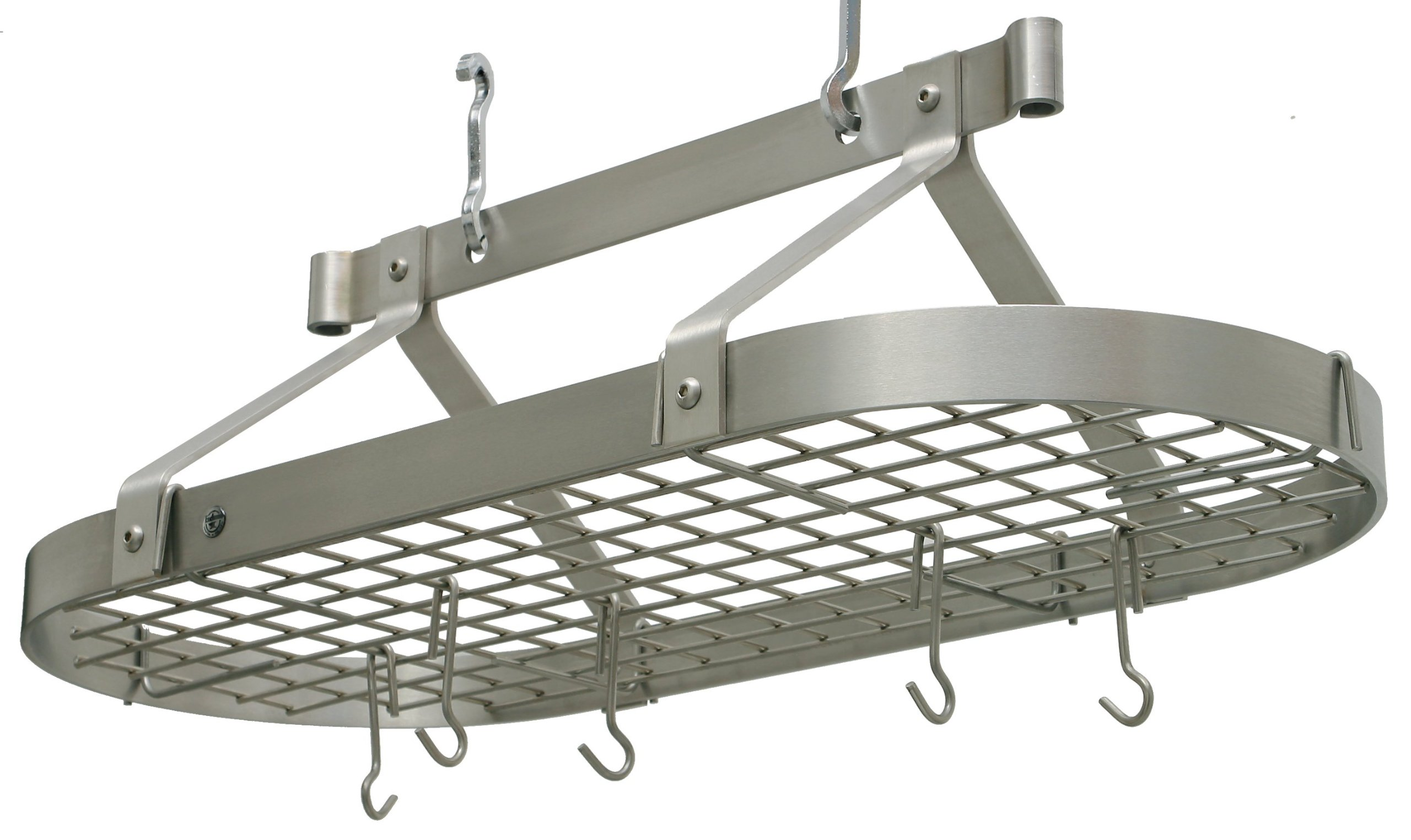 Enclume Premier 3-Foot Oval Ceiling Pot Rack, Stainless Steel