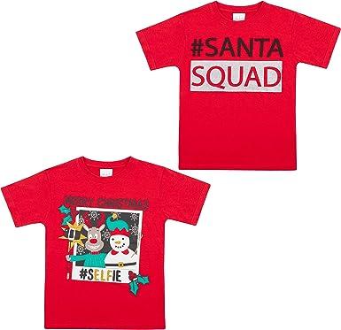 Metzuyan Girls and Boys Xmas Printed Christmas Design 100/% Cotton Funny T-Shirts