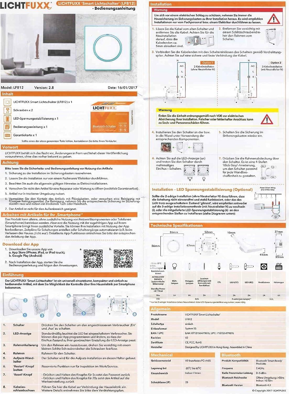 NEUHEIT: LICHTFUXX leistungsstarker Smart Home Bluetooth-Schalter ...