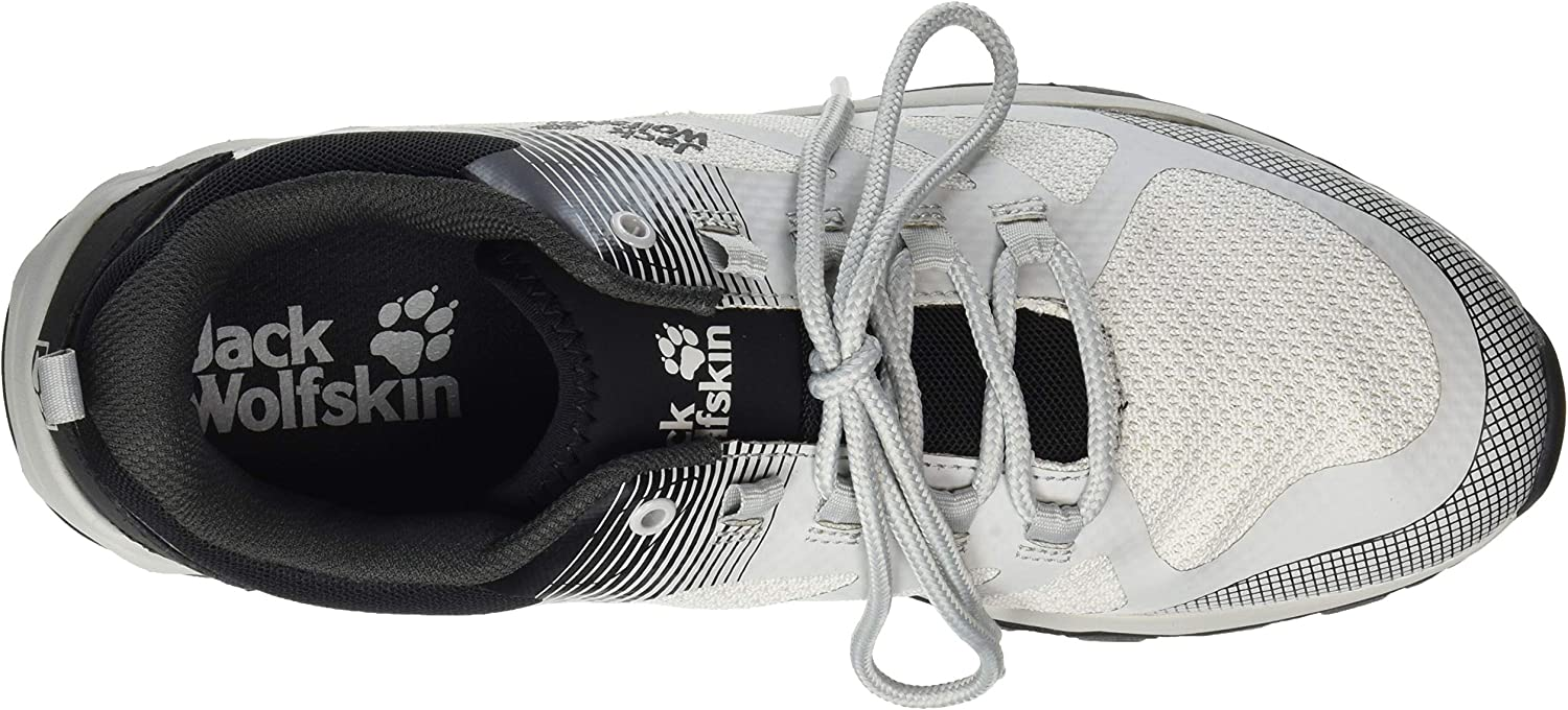 Jack Wolfskin Men's Fast Striker M Low Rise Hiking Shoes White Off White Black 6251