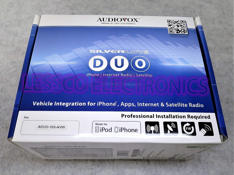 Amazon com: Audiovox ADUO-103-AVW Silverline Duo Integration Kit for