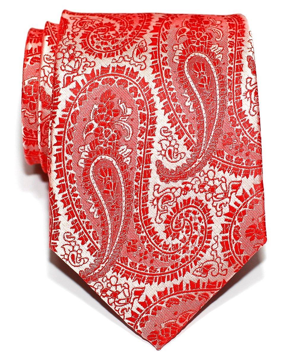 Retreez Corbata de microfibra con estampado de cachemir para hombres