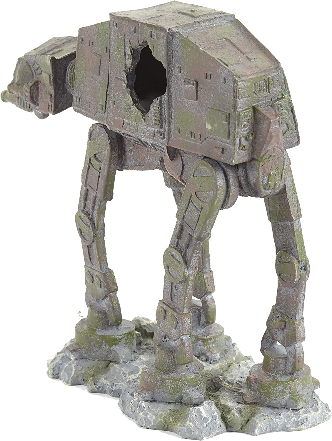 Pet Ting Star Wars At At Fighter Ornament For Aquarium And Vivarium Decoration Amazon Co Uk Pet Supplies