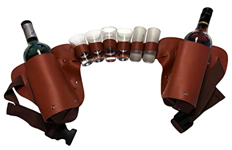 Liquor Holster Liquor Belt Shot Holder New And Improved Brown