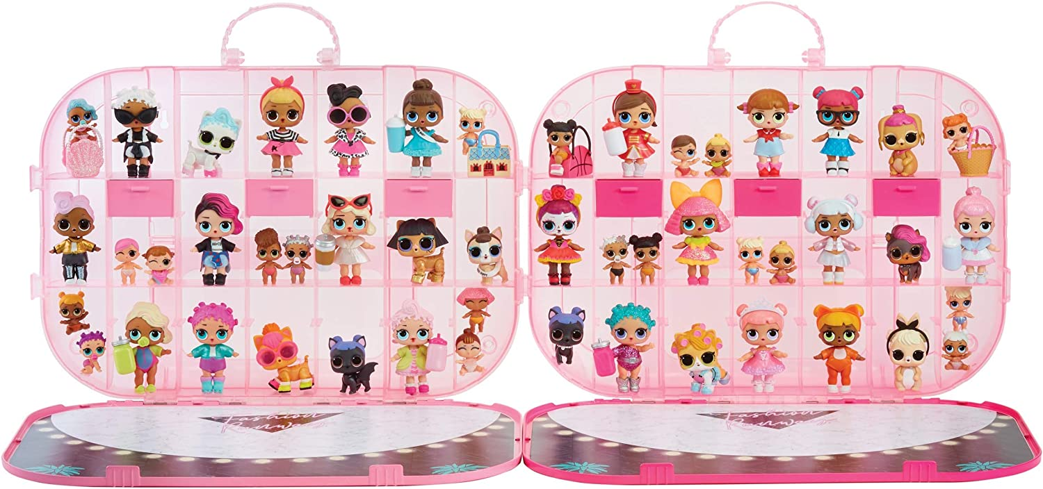 Multicolor L.O.L Surprise Hot Pink Fashion Show On-The-Go Storage//Playset with Doll Included