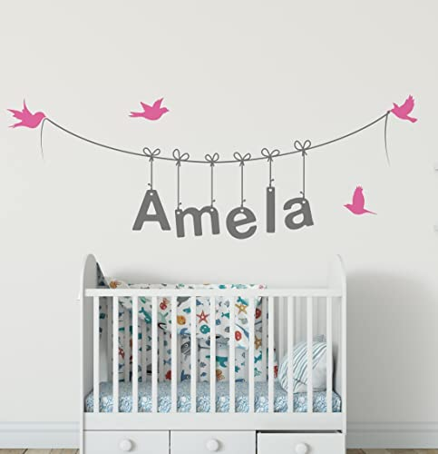 name wall stickers personalised name wall stickers for girls boys