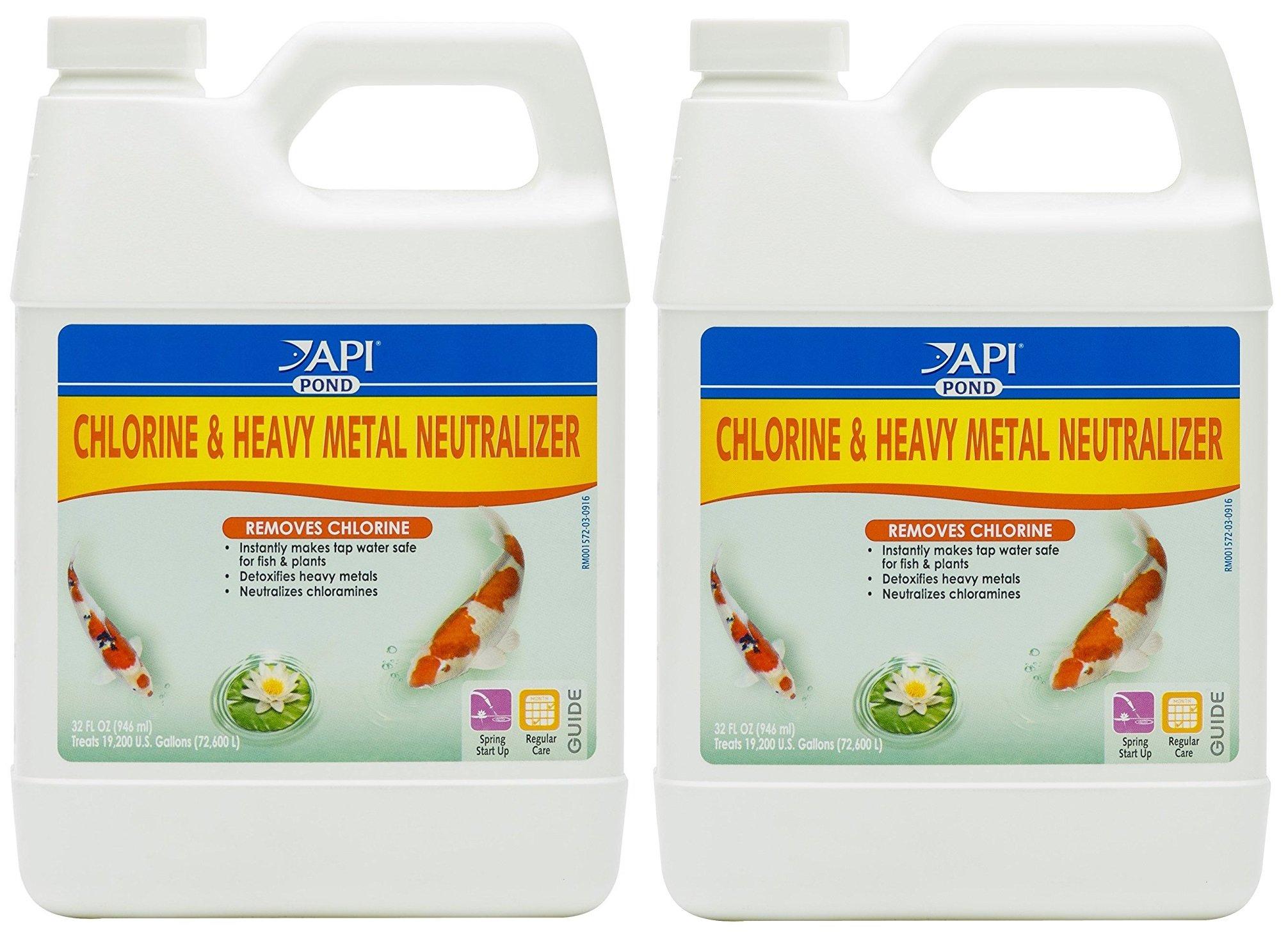 API pond (2 Pack) Mars Fishcare Pondcare Chlorine and Heavy Metal Neutralizer 32 Ounce by API pond