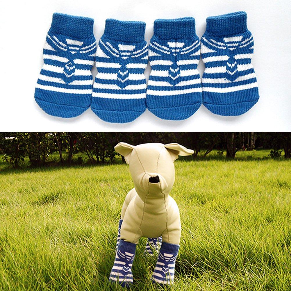Amazon.com: efinny 4pcs mascotas perro Polk Dot calcetines ...
