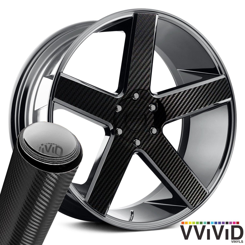 VViViD Auto Rim Air-Release Adhesive Vinyl Wrap 24 x 30 4 Sheet Pack Chrome Silver