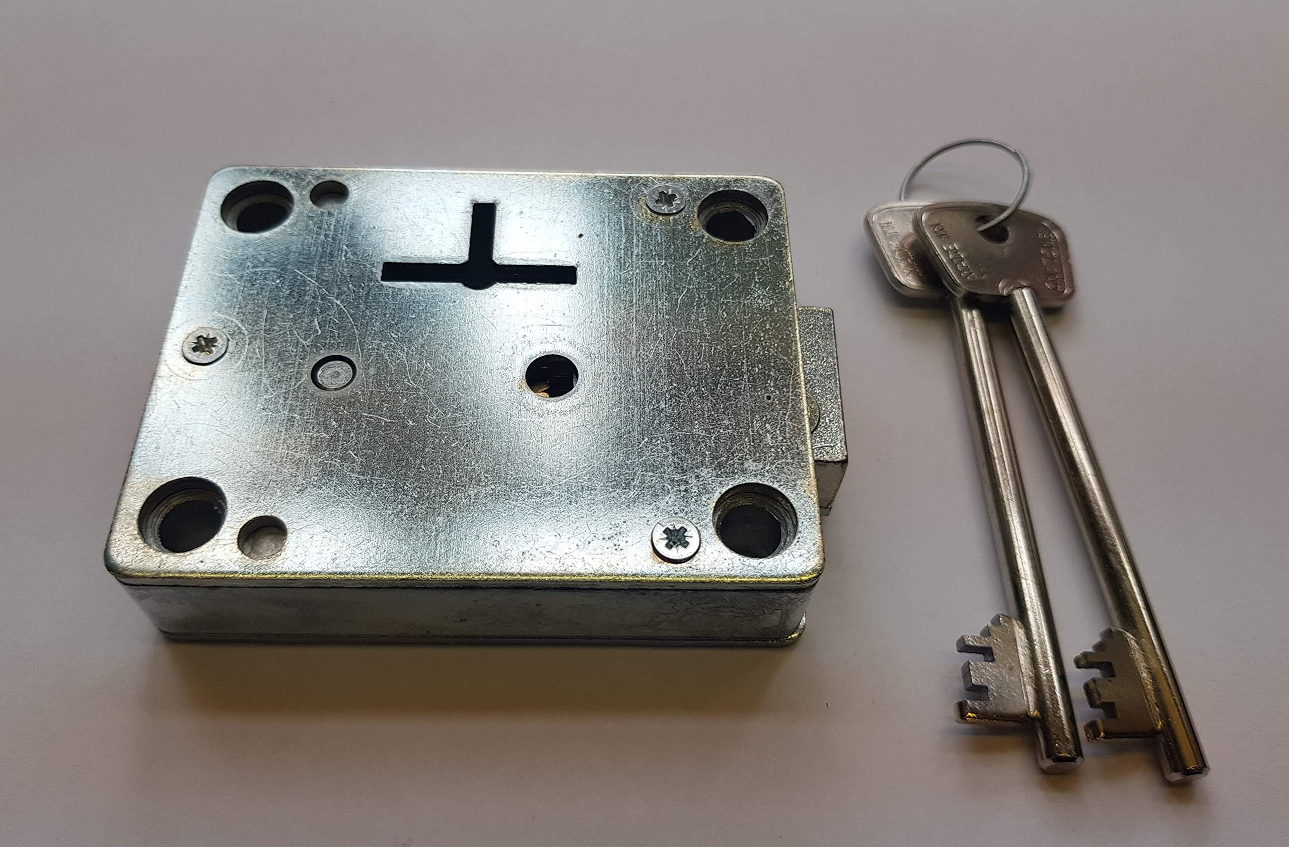 Lowe /& Fletcher 3001 Rim 7 lever Deadlock safe lock gun cabinet strong box