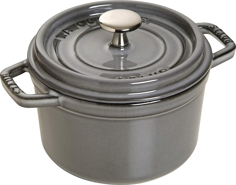 Staub Mini Round Cocotte - 1.5Qt - Graphite Grey