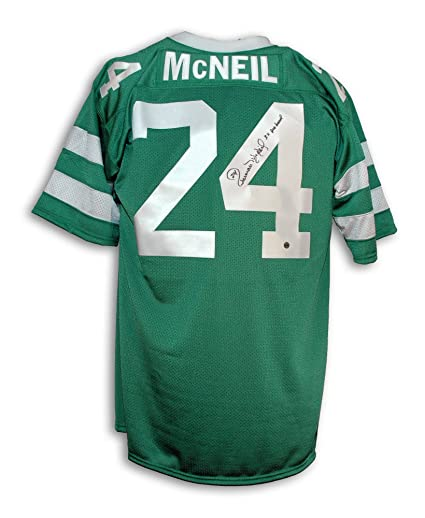 336b6a78704 Freeman McNeil New York Jets Autographed Green Throwback Jersey Inscribed  3X Pro Bowl at Amazon's Sports Collectibles Store