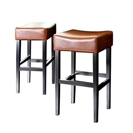 Best Selling Classic Hazlenut Leather Backless Barstool 2-Pack  sc 1 st  Amazon.com & Amazon.com: Best Selling Classic Hazlenut Leather Backless ... islam-shia.org