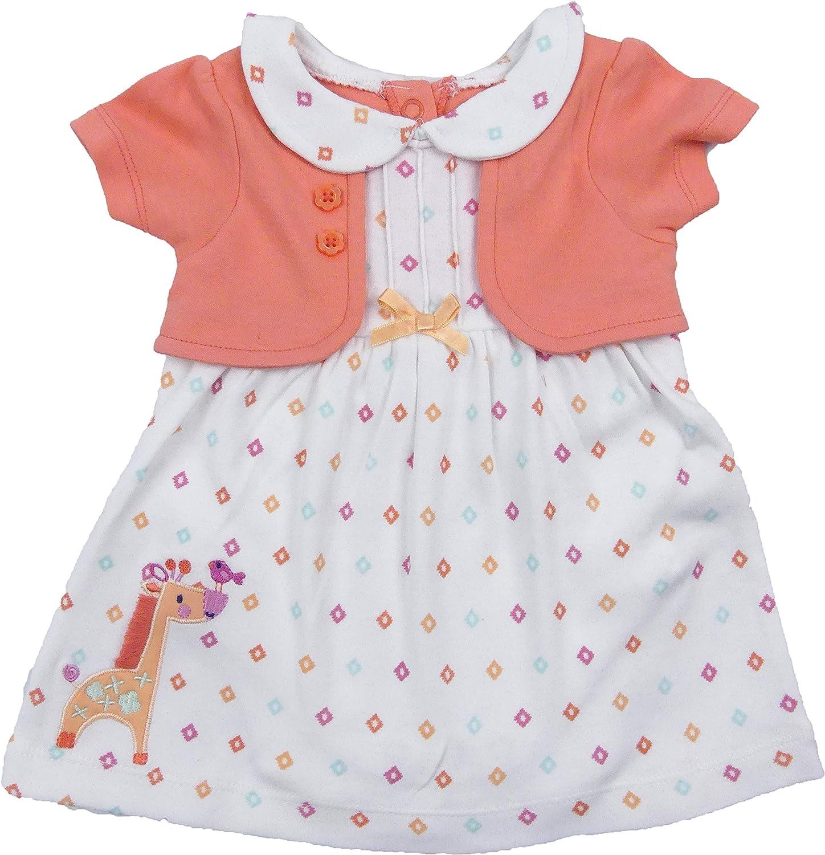 Girls Stripe Dress /& Vest Set 2 Piece set age 0//3 3//6 6//9 m newborn 100/% cotton
