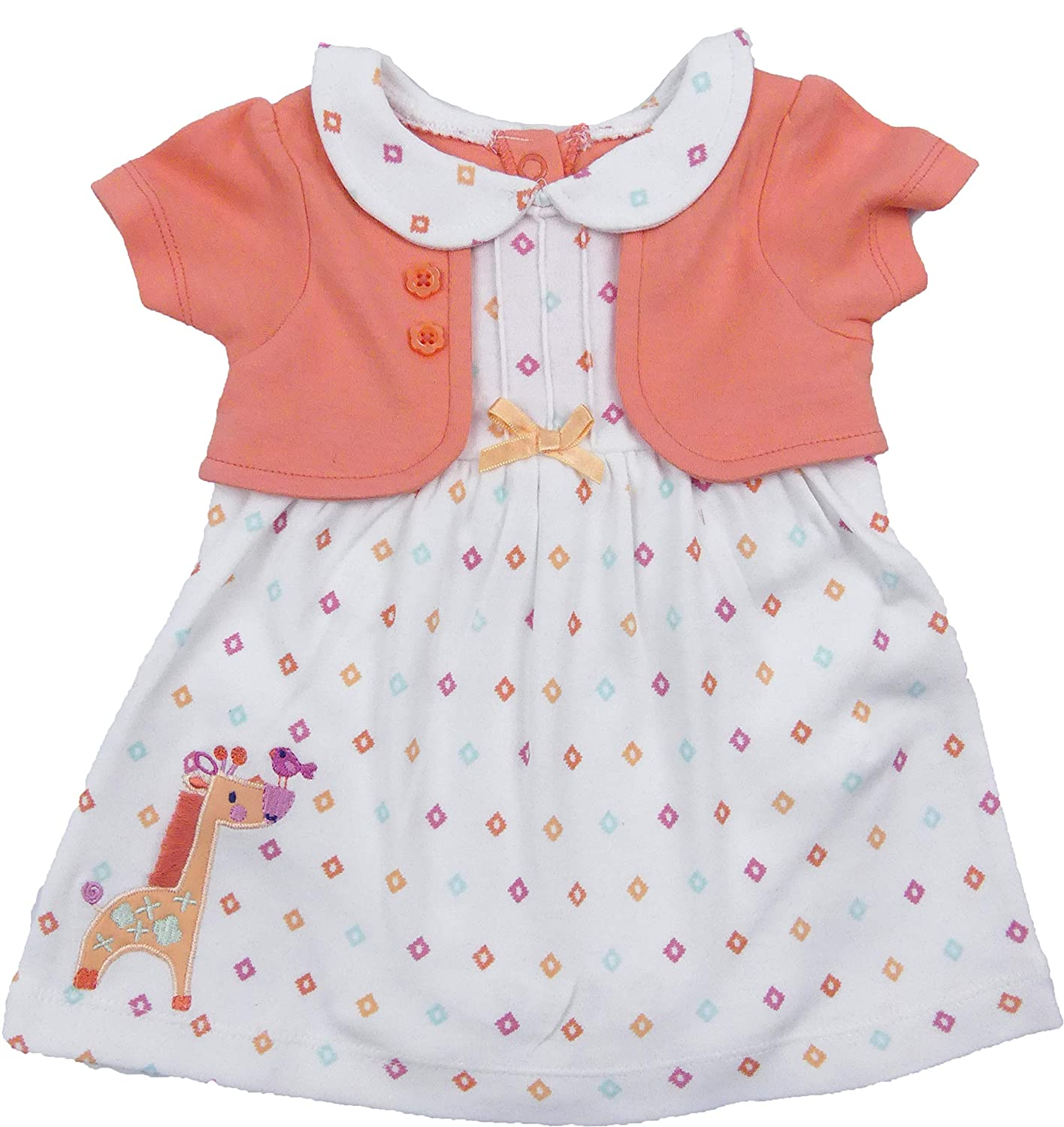 77eb6a1dcef8 Amazon.com  The Pyjama Party Baby Girl Dress Outfit Summer Wear Mock Bolero  Jacket Integral Body Suit RRP £11  Clothing