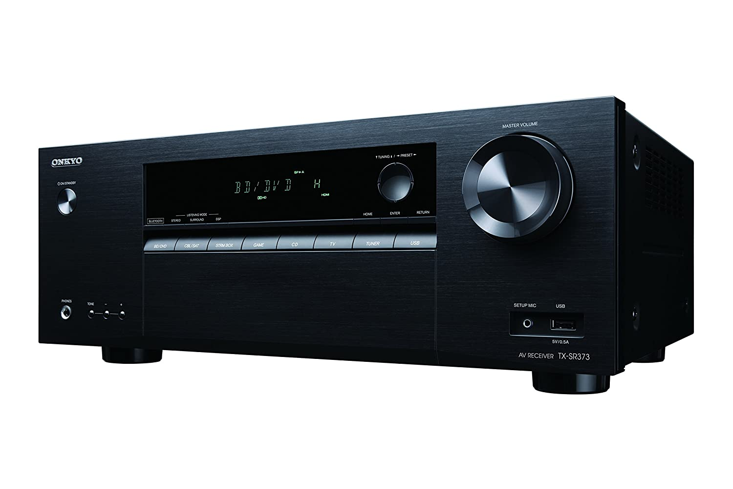 Amazon.com: Onkyo TX-SR373 5.2 Channel A/V Receiver with Bluetooth:  Electronics