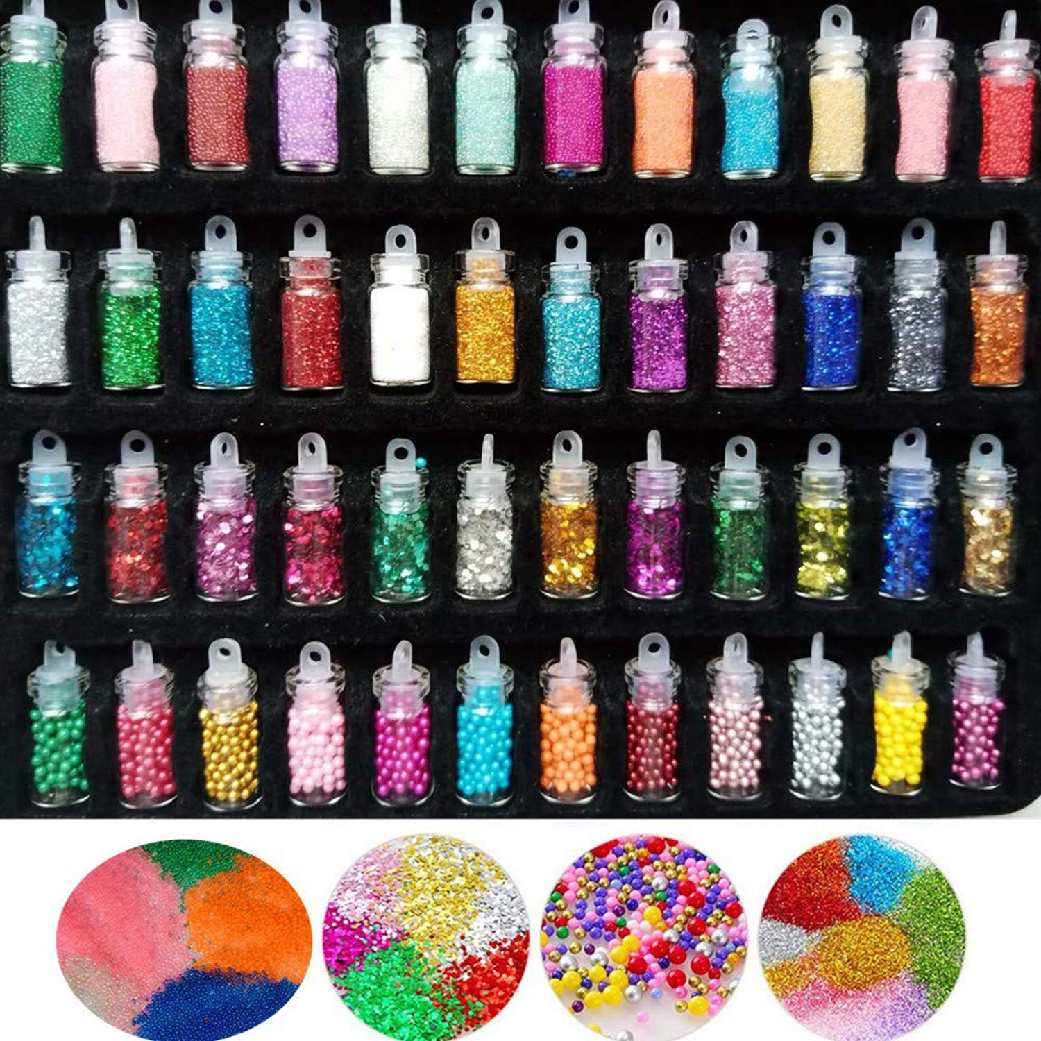 Mordely 138 pack Slime Making Kits Supplies,Foam Balls,Glitter Shake Jars,Fishbowl Beads,Moving eyes,Fruit Slices Sugar Papers,Slime Containers,ABS Pearls,Slime animal charms for Girls and Boys Slime 01