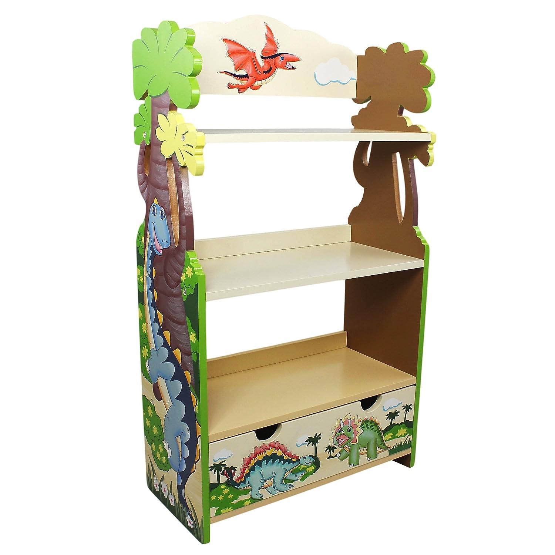 ファンタジーフィールド – Cracked主題Kidsローズ木製本棚withストレージ TD-0069A B007UZKWAQ  恐竜の王国(Dinosaur Kingdom)
