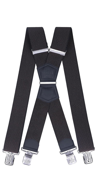 Ranger Men's Braces X Shape Suspenders Heavy duty Dmax50