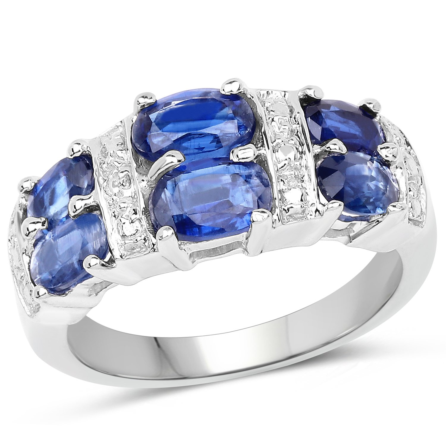2.44 ct. Genuine Kyanite Sterling Silver Ring