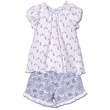 Amazon Com Feather Baby Girls Clothes Pima Cotton Two Piece Petal