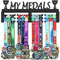 GENOVESE My Medals Colgador de Medallas, Metal de Acero Negro, Montaje en Pared 50 Medallas