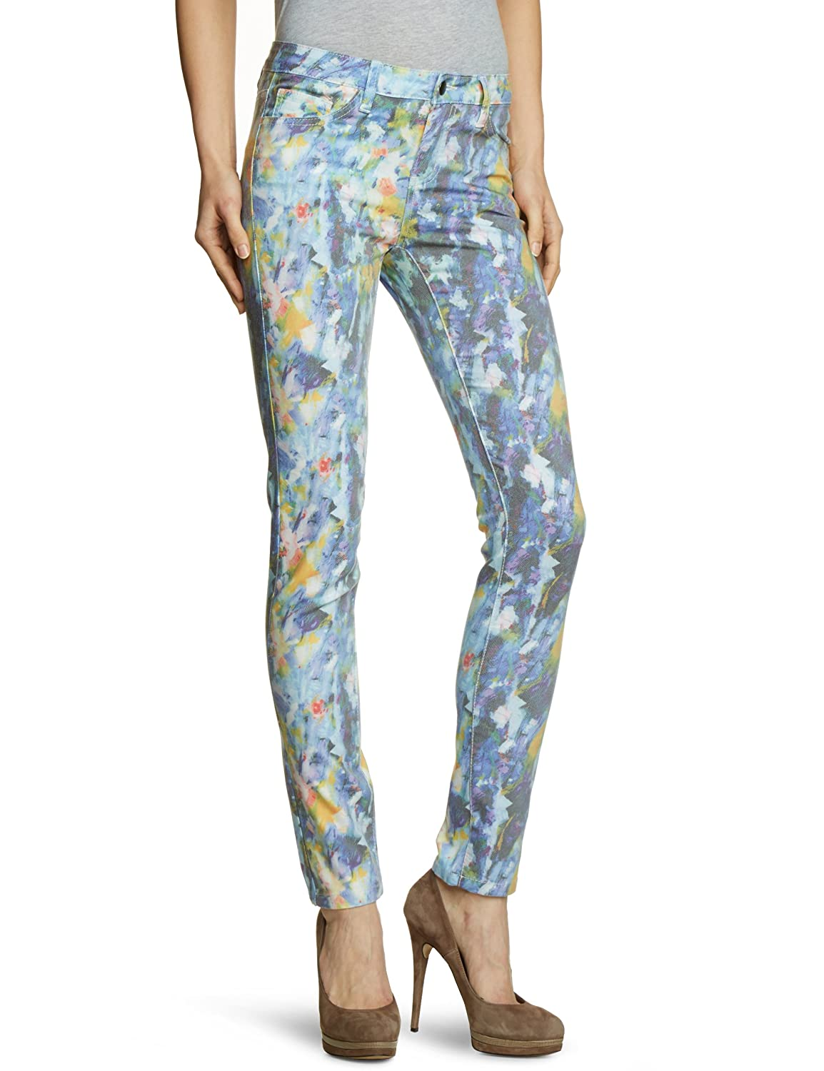 PIECES Women's Leggings / 17046945 FUNKY FLOFY DELUX LEGGING / LIGHT BLUE, All over print