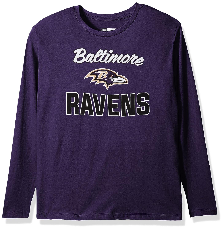 NFL Womens Ravens L S Scoop Neck Tee