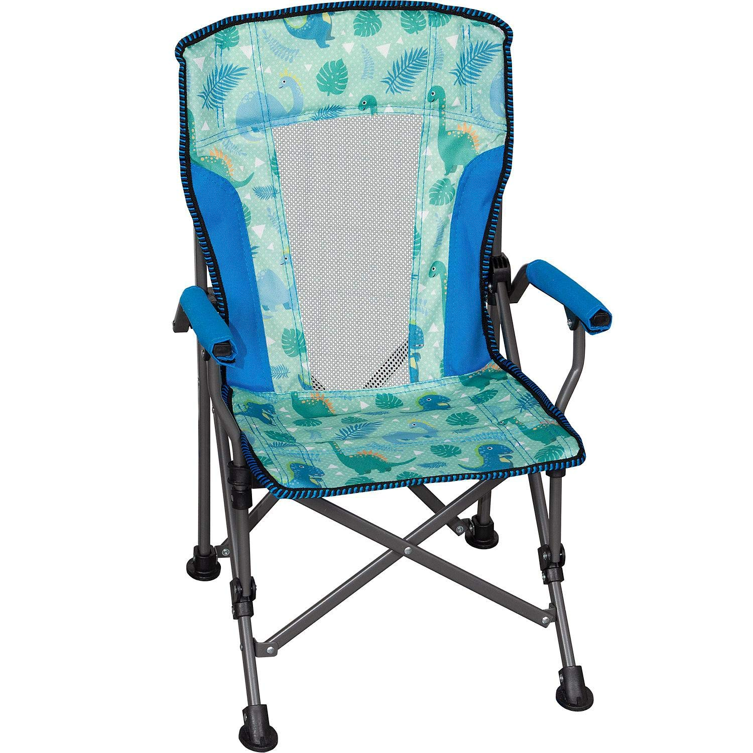 Member's Mark Kids' Folding Portable Light Weight Arm Chair with Matching Storage Bag & Carrying Strap (Dinosaur) by Members Mark