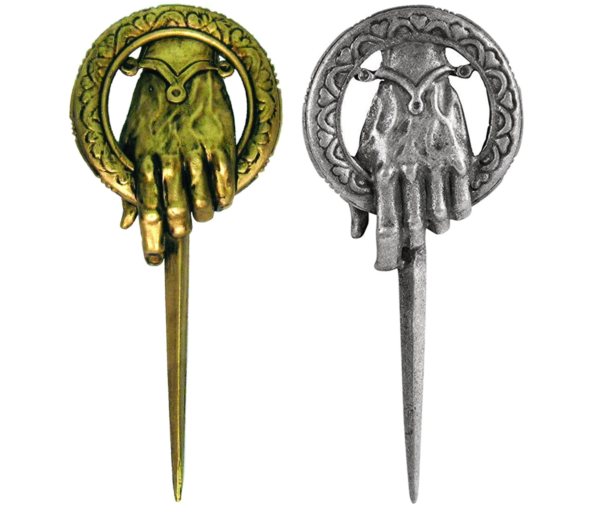 Mozlly Dark Horse Deluxe Game of Thrones Hand of the King and Queen Lapel Pin (2 Items)