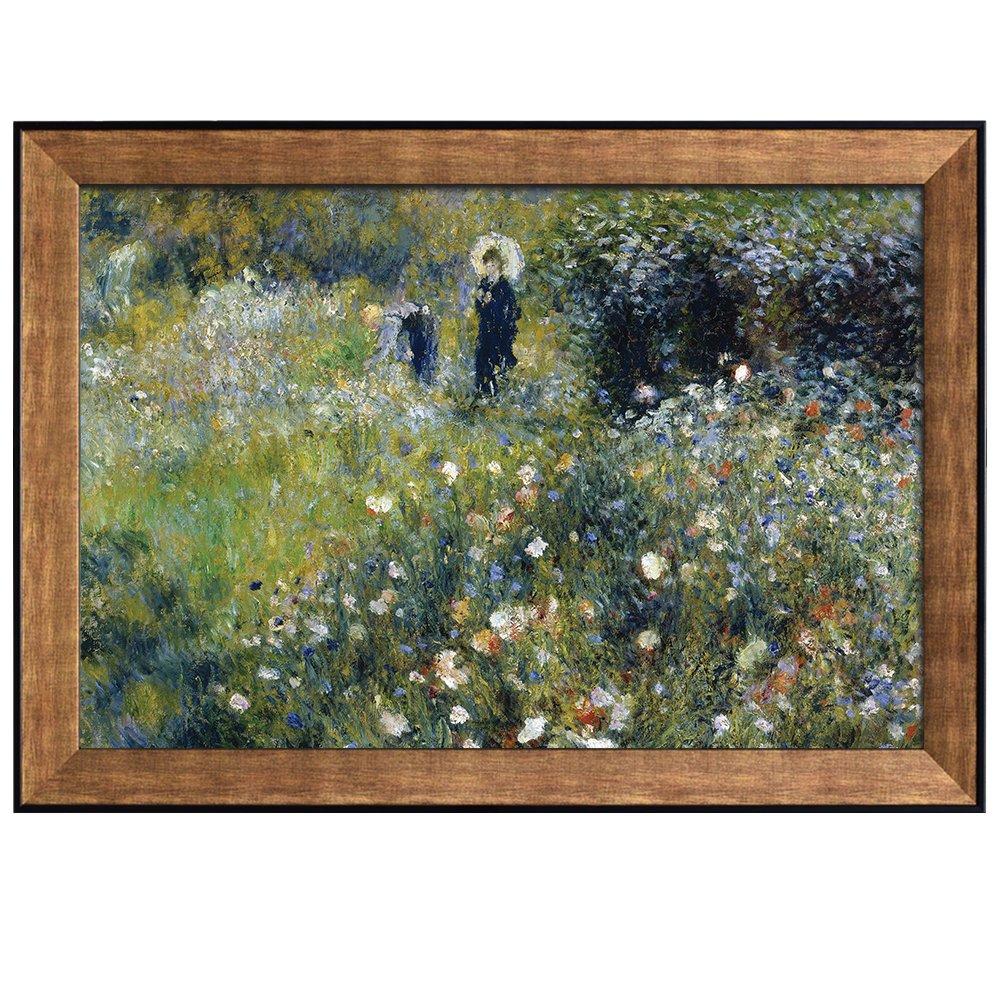 Amazon.com: Wall26 - Femme Avec Parasol Dans Un Jardin by Pierre ...