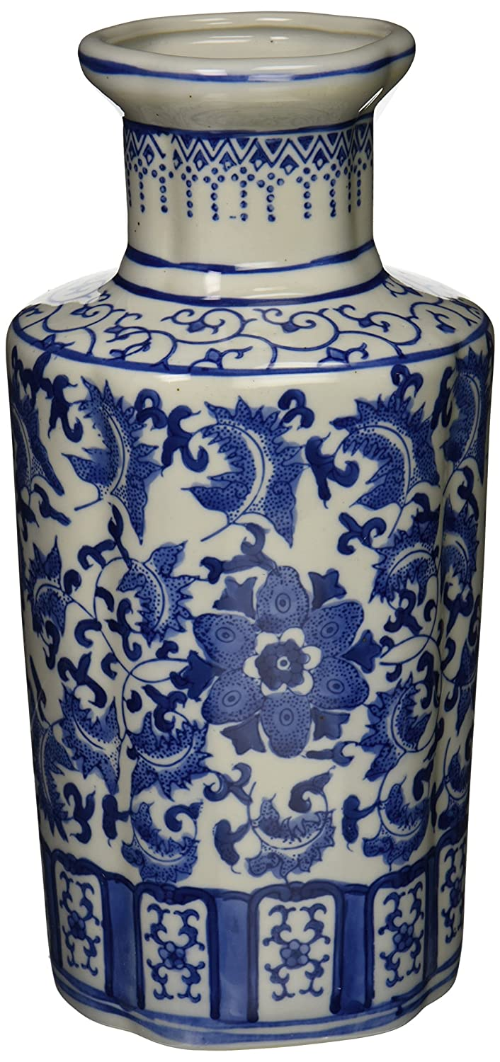 Amazon oriental furniture 12 floral blue white porcelain amazon oriental furniture 12 floral blue white porcelain vase home kitchen reviewsmspy