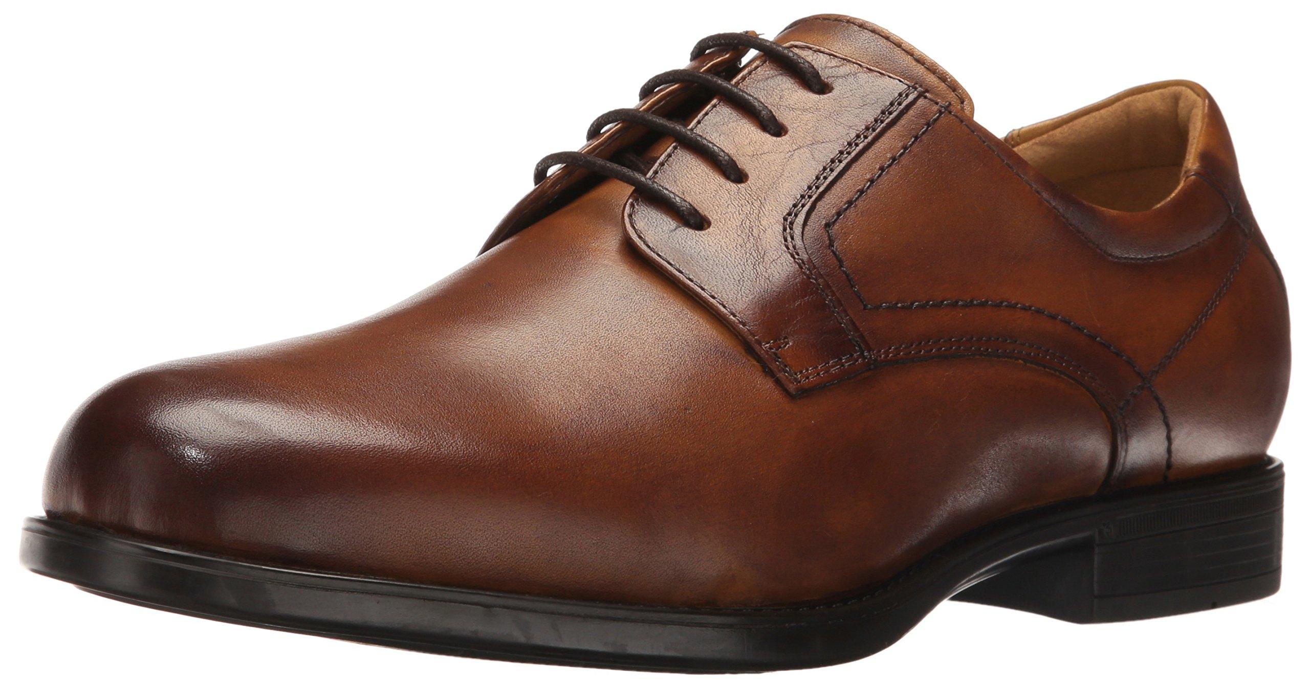 Florsheim Men's Medfield Plain Toe Oxford Dress Shoe, Cognac, 10.5 Wide by Florsheim