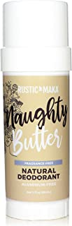 product image for Rustic MAKA Natural Deodorant, Naughty Butter, Free of Aluminum & Parabens, Odor-Neutralizing, Unscented, Vegan & Cruelty-Free