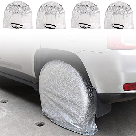 Juego de 4 cubiertas para neumáticos, protegen contra los rayos solares, resistentes, impermeables, de tela Oxford, ...