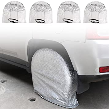 Juego de 4 cubiertas para neumáticos, protegen contra los rayos solares, resistentes, impermeables