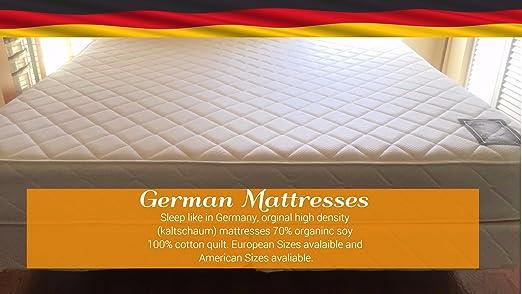 Amazon.com: German Mattress Soft to Firm high Density ...