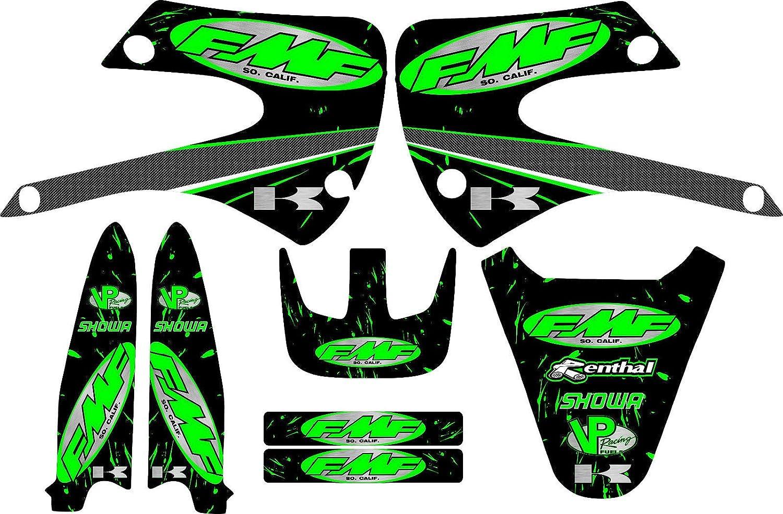 Amazon.com: Kx85-FMF-Racing-Exhaust-Graphic-Kit-01-12-Green ...