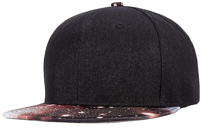 TESOON Plain Flat Bill Baseball Cap, Snapback Hip Pop Caps Adjustable Hat