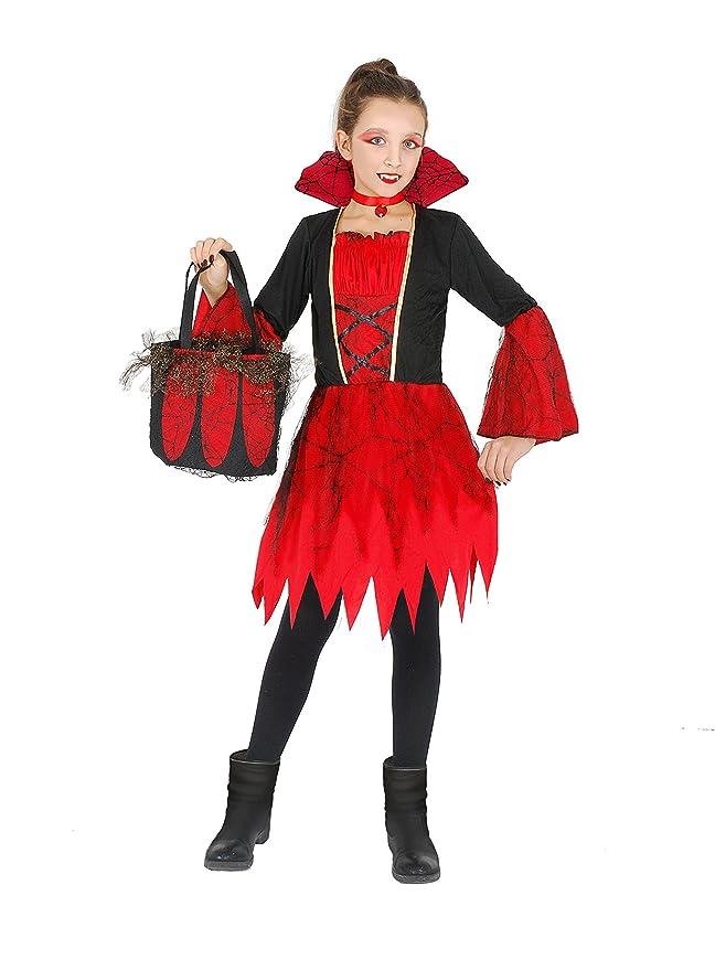 FIORI PAOLO Vampirella disfraz niña con bolsa con aplicaciones de ...
