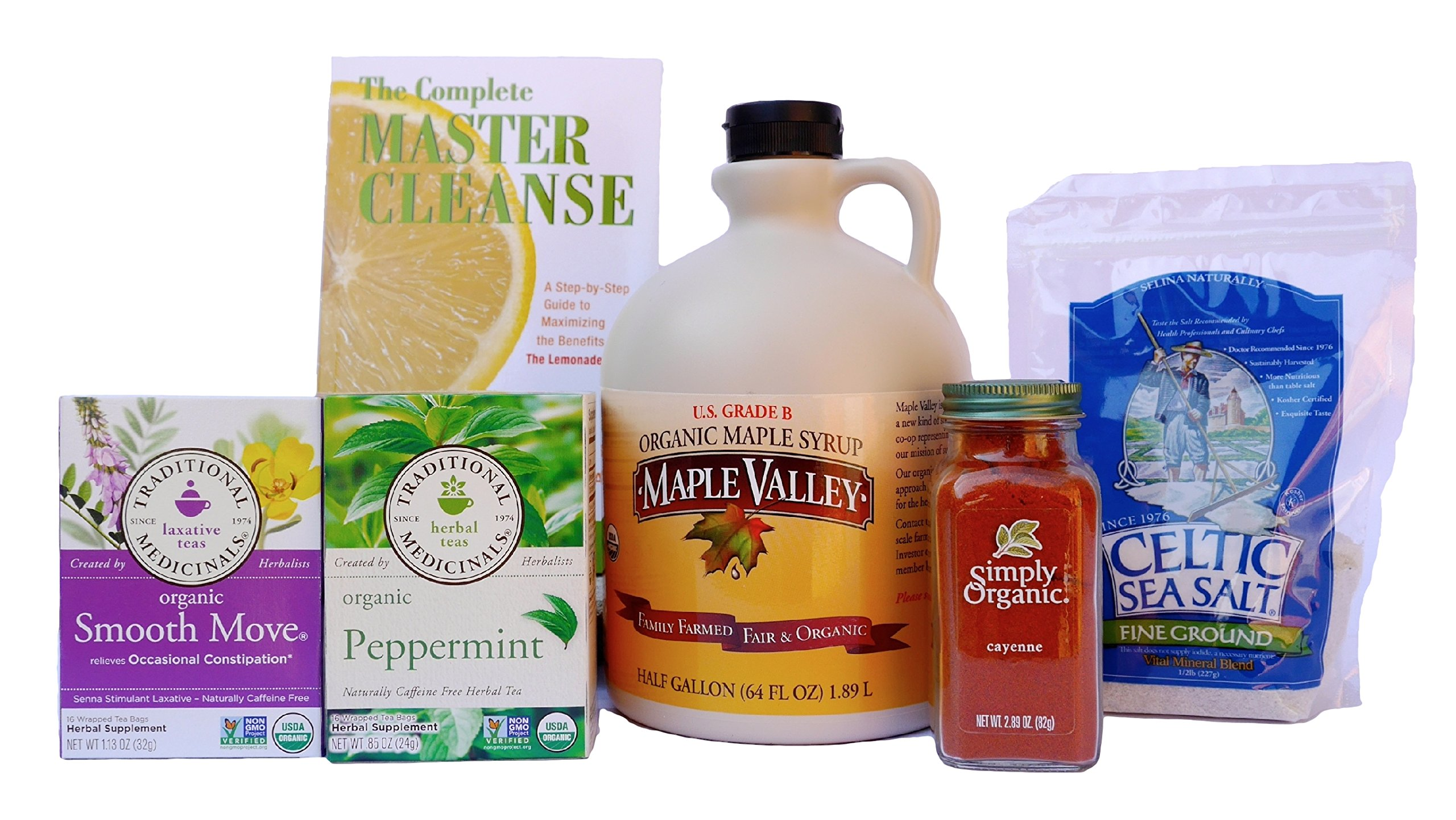 Maple Valley 10 Day Organic Master Cleanse Lemonade Detox / Diet Kit with Book The Complete Master Cleanse
