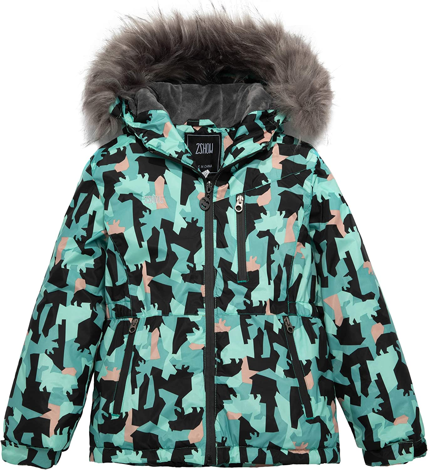 ZSHOW Girls' Mountain Waterproof Ski Jacket Warm Winter Snowboarding Coat
