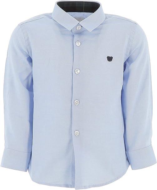 Nanan Boy Camisa Oxford Celeste Azul Claro 24 Meses: Amazon ...