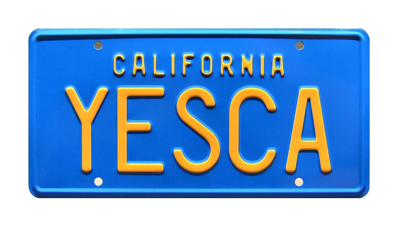Cheech & Chong' s Up in Smoke | Fiberweed Van | YESCA | Metal Stamped Vanity Prop License Plate Celebrity Machines