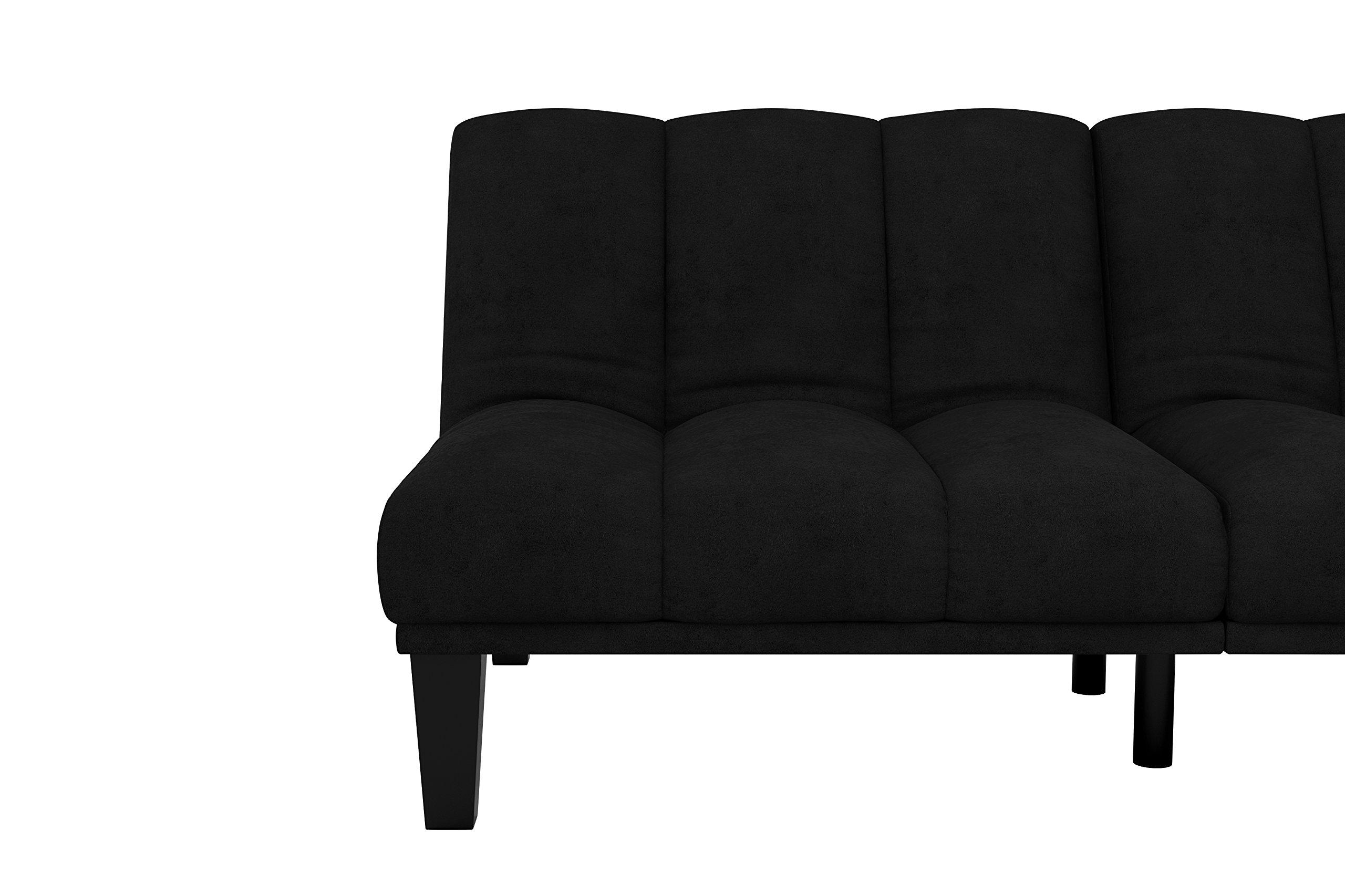 Hamilton Estate Premium Sofa Futon Sleeper Comfortable Plush Upholstery, Rich Black by DHP (Image #9)