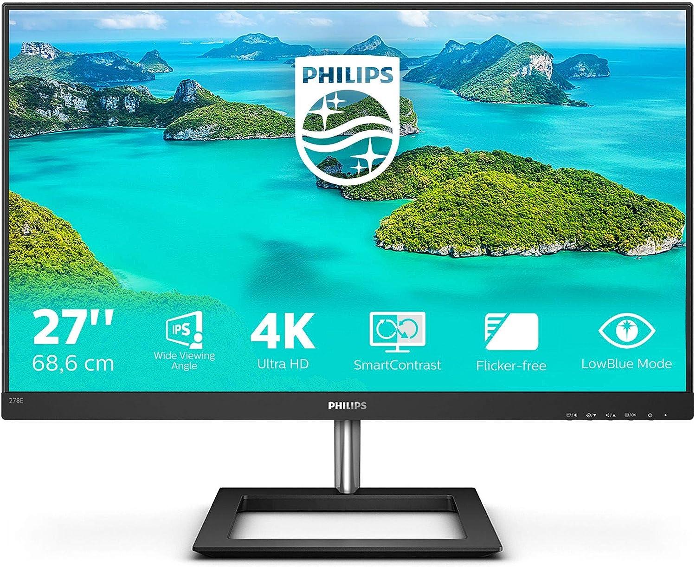 Philips 278e1a 27 Zoll Uhd Monitor Schwarz Computer Zubehör