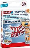 Tesa 58800-12-00 Lot de 16 double-face adhésifs transparents Powerstrips Deco (Import Allemagne)