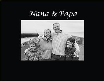 infusion gifts 3041sb engraved photo frame nana and papa black
